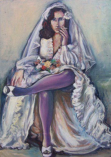 La mariée - Huile sur toile, 130 x 160cm (2007)