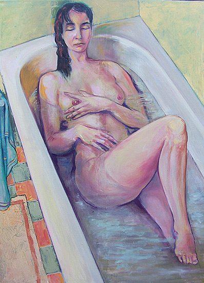 Le bain - Huile sur toile, 130 x 160cm (2007)