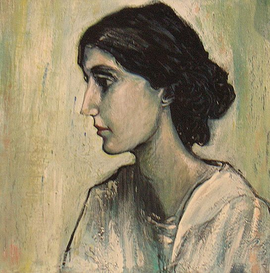 Virginia Woolf, 40 x 50cm, collection particulière