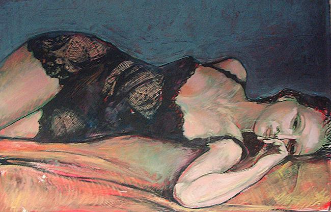 Acrylique sur papier, 115 x 75cm (1992)