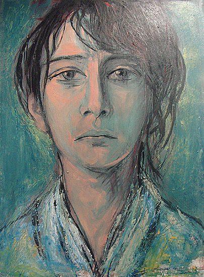 Camille Claudel - Acrylique sur papier, 50 x 65cm (2008)