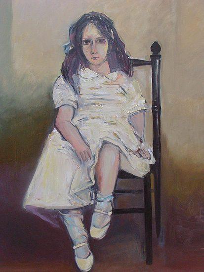 La fillette, huile sur toile - 114 x 160cm (2010)