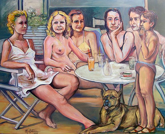 Scène de table - Huile sur toile 195 x 130 cm (2010)