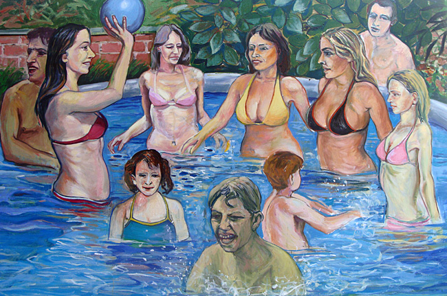 Piscine - Huile sur toile - 195 x 130 cm (2010)