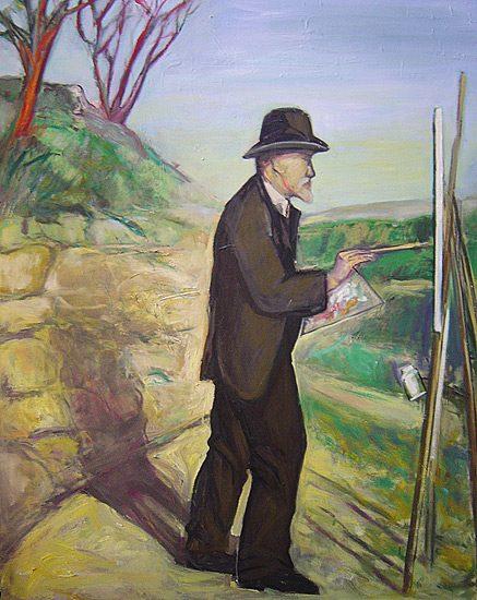 Cézanne sur le motif - Huile sur toile, 160 x 140cm (2007)