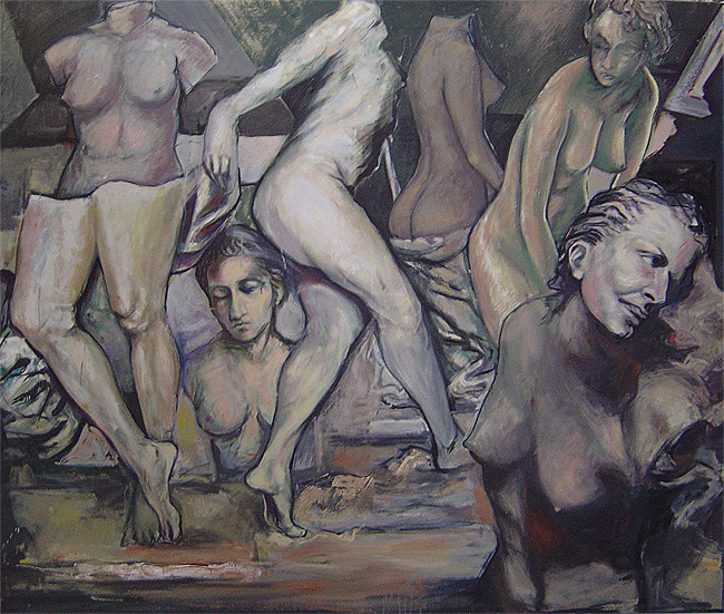 L'atelier du sculpteur - Huile sur toile, 190 x 160cm (2006)