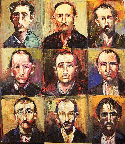 Visages d'hommes -Collection particulière (1995)