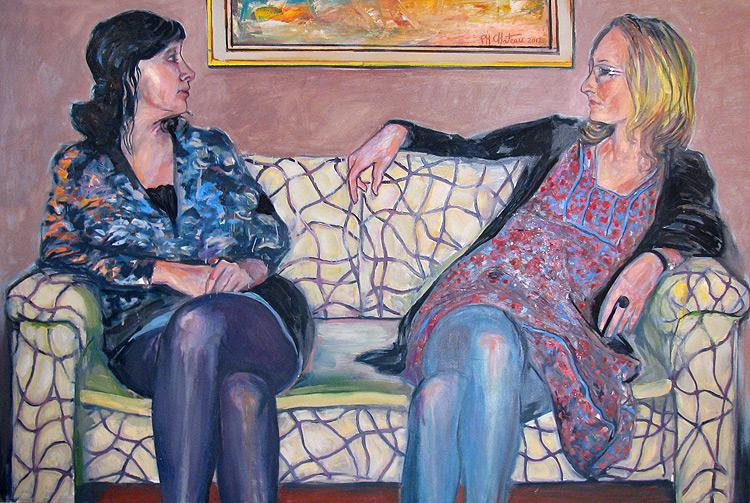 La conversation sur le divan