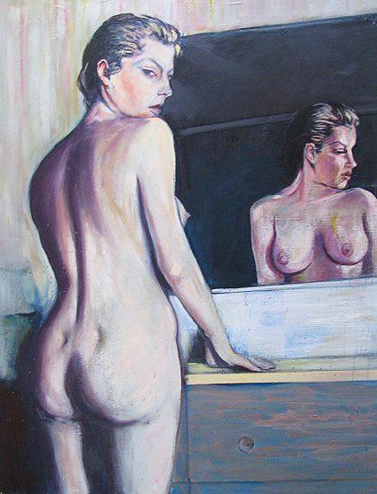 Nu au miroir