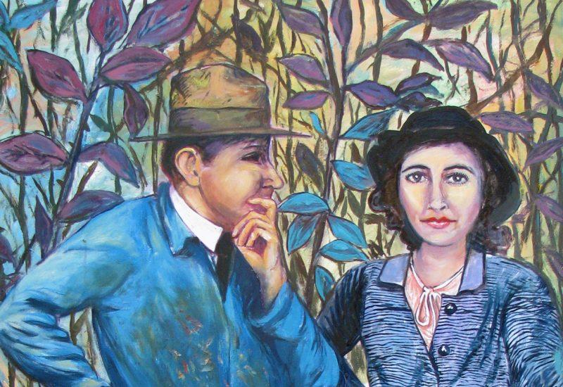 Le couple en bleu